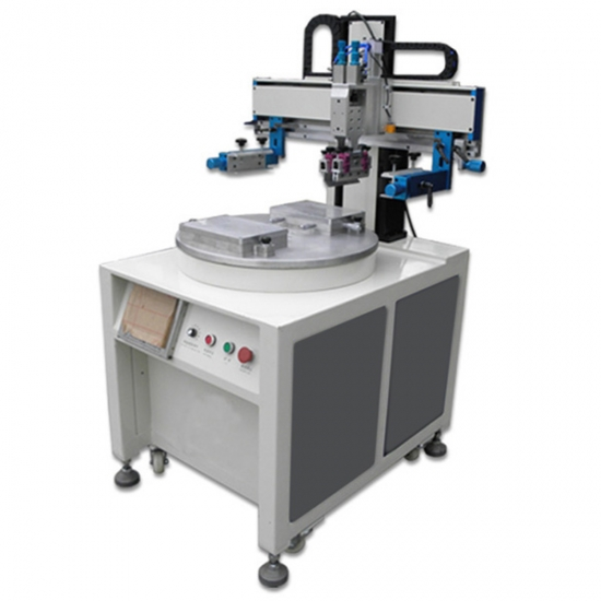 automatic conveyor label screen printing machine with 2 stations